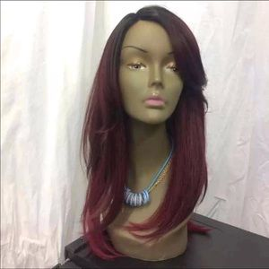 Other - Dark Red Wig with Layers Semi Synthetic